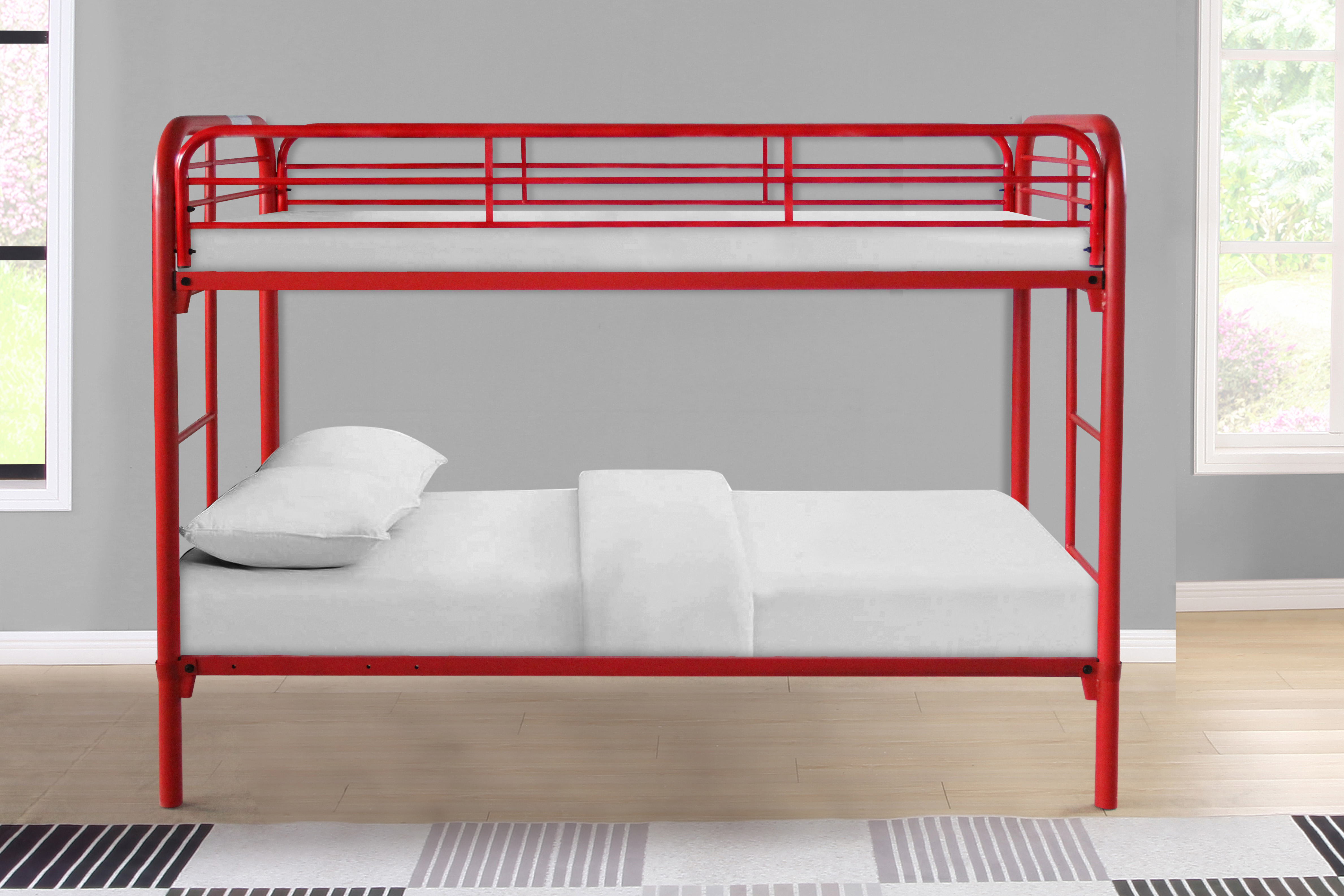 Picture of: 7540 Blue Metal Bunk Bed 7540 Bl Milton Greens Stars Lowest Price Possible With Best Possible Value