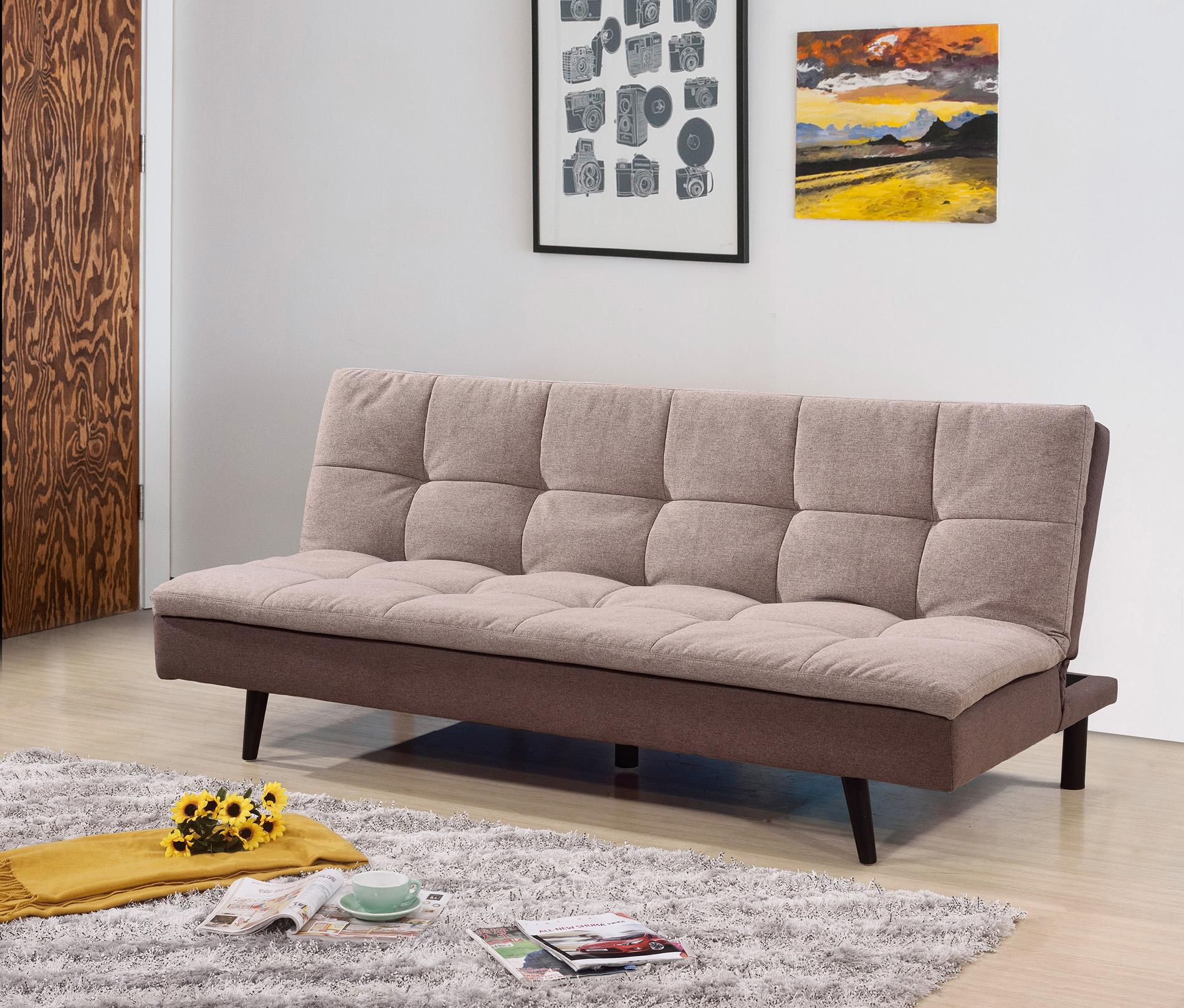 7568 LIGHT BROWN Pillow Top Sofa Bed [7568-LBR] : Milton ...