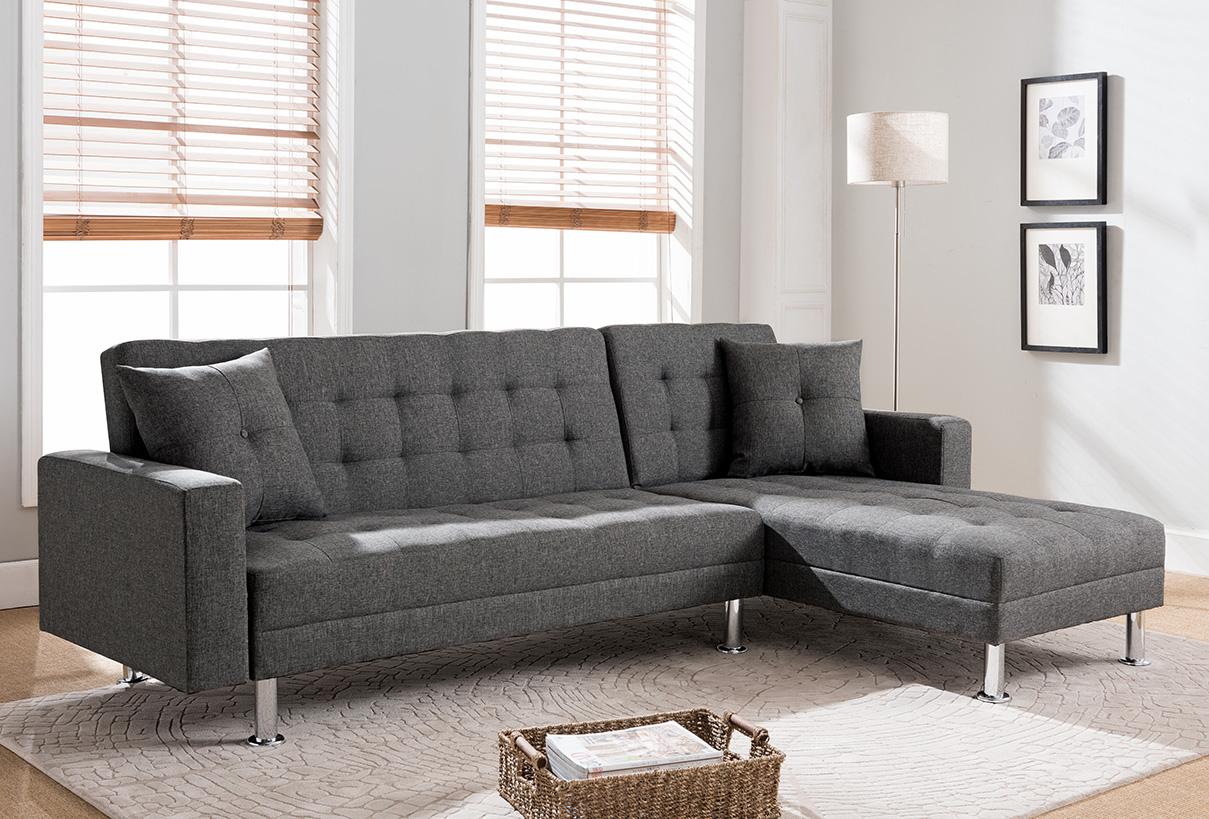 Swell 8056 Tufted Linen Fabric Sectional Sofa Bed 8056 Milton Spiritservingveterans Wood Chair Design Ideas Spiritservingveteransorg