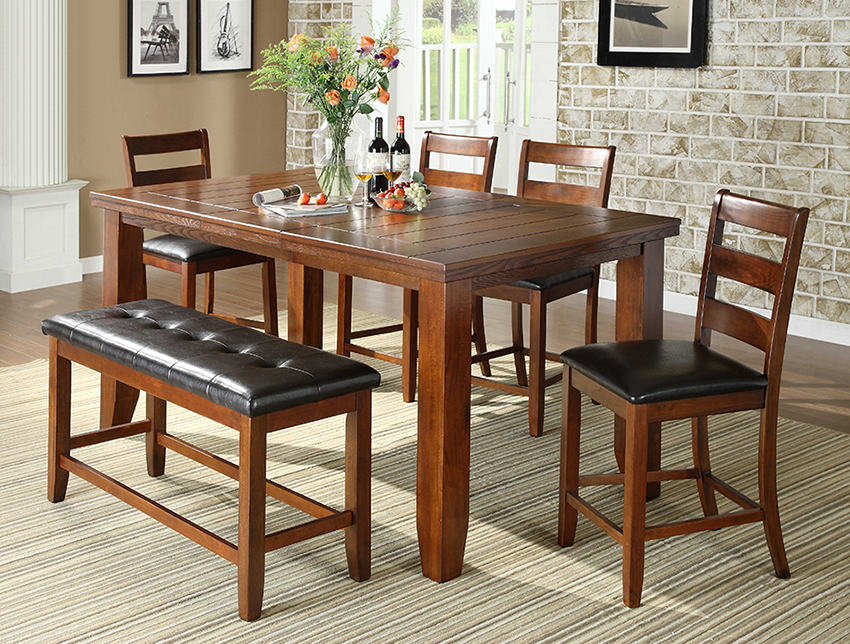 8850 BROWN 6PC Counter Height SET